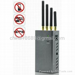 High Power Portable Signal Jammer for GPS + Mobile Phone + WiFi