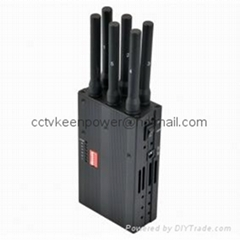 2014 New Handheld 6 Bands 4G LTE 4G WIMAX Cell Phone Jammer 4G Jammer 3G Jammer  (Hot Product - 1*)