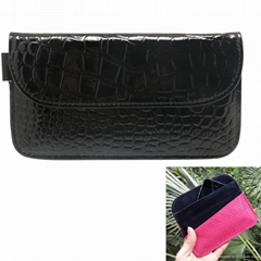 Crocodile PU Leather Protective Anti-Radiation Signal Blocking Case Pouch
