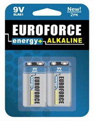 Alkaline Battery 9V size 6LR61