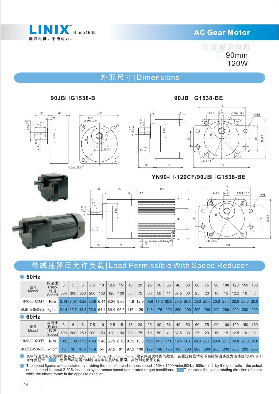 LINIX交流减速电机联宜电机 4