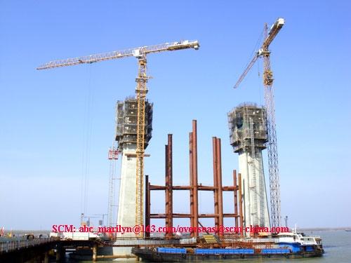 Flat head jib tower crane SCM-P200 3
