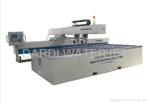 Water Jet Cutting Machine Double Cutting Head CNC Cutting Table