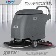 全自動小型洗地機廠家直供手推式工業洗地機