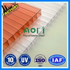 colored polycarbonate panel twin wall polycarbonate hollow sheet