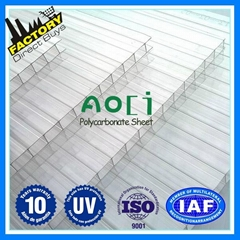 Swimming Pool sheet multicell honeycomb polycarbonate sheet