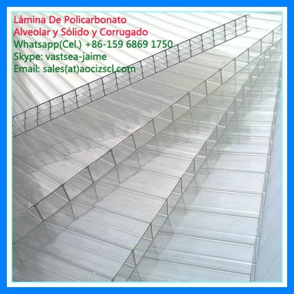 types of polycarbonate sheet twin wall polycarbonate hollow sheet 4
