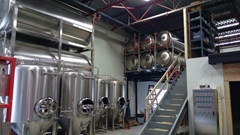 300L 600L beer fermentation tank with the insualtion layer