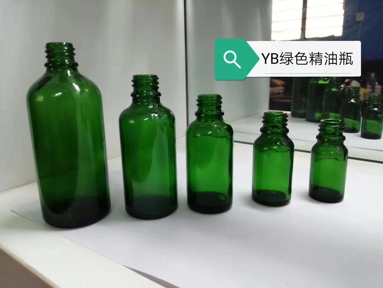 翠绿玻璃瓶绿色酒瓶 5
