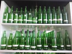 翠绿玻璃瓶绿色酒瓶