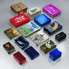 cusotm print square tin box for metal container package