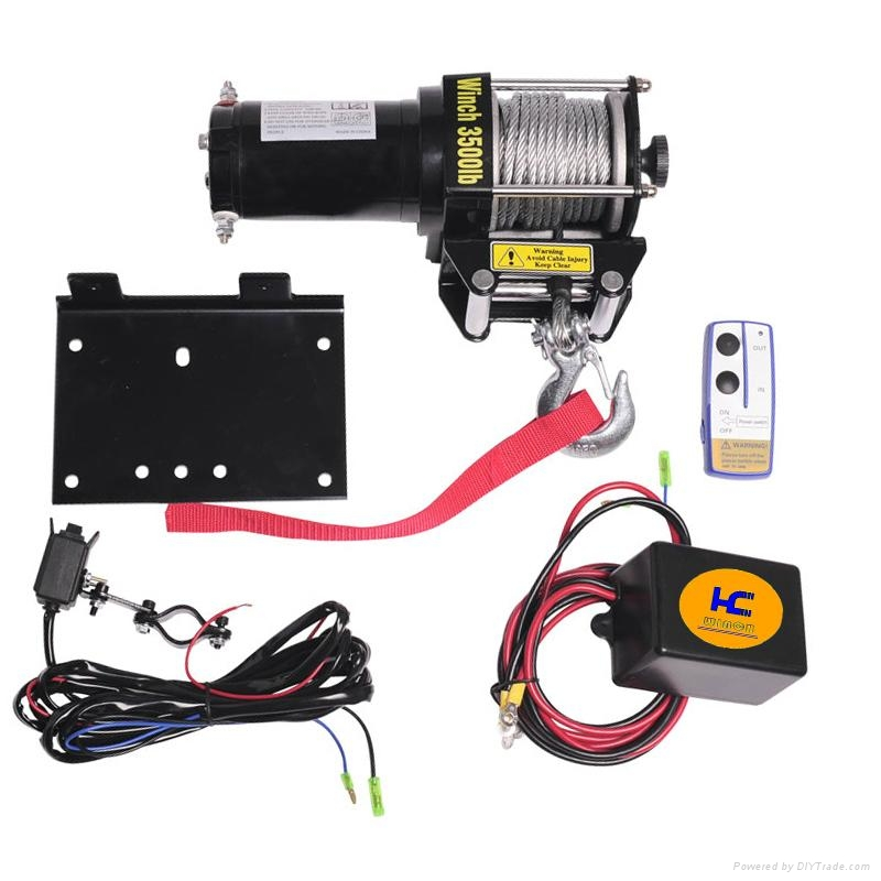 polaris winch wiring diagram moreover boat navigation light boat trailer winch wiring diagram atv utility electric winches 3500lbs - hc3500 - hc winches ... #12
