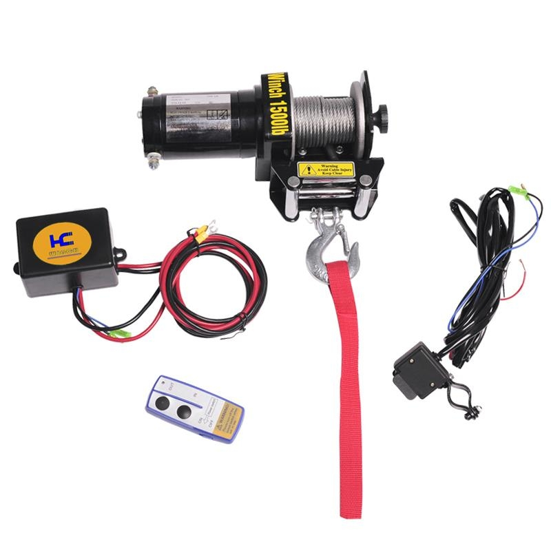 ATV UTV boat Winch 1500lb 1