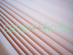 beige color pleated paper blind