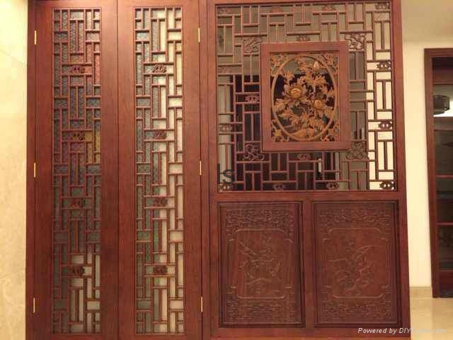 Chinese style antique carved wooden antique doors and Windows 1