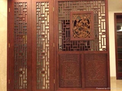 Chinese style antique carved wooden antique doors and Windows