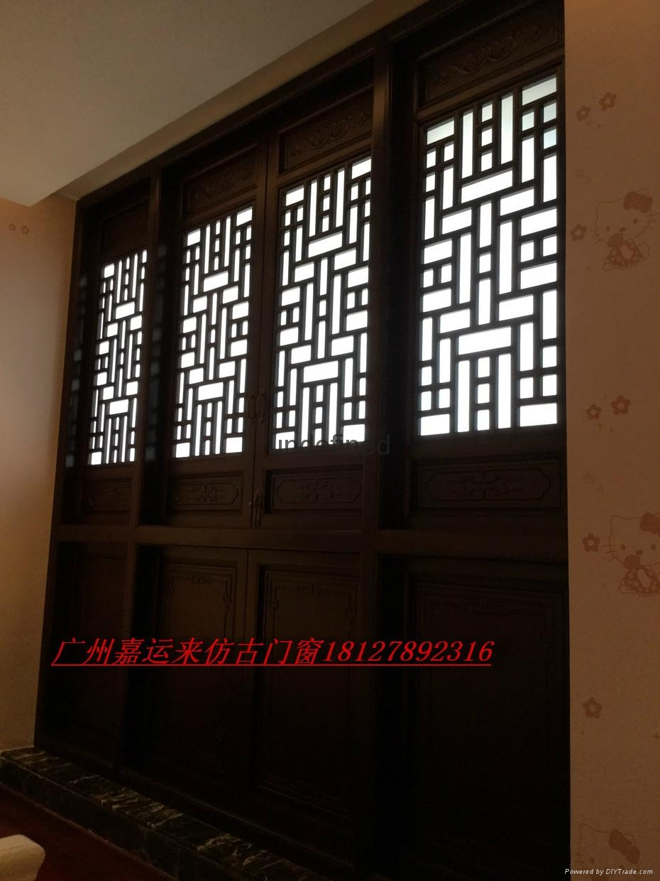 Hand made archaize process classical elegant woodcarving doors and Windows 6
