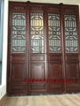 Hand made archaize process classical elegant woodcarving doors and Windows 5