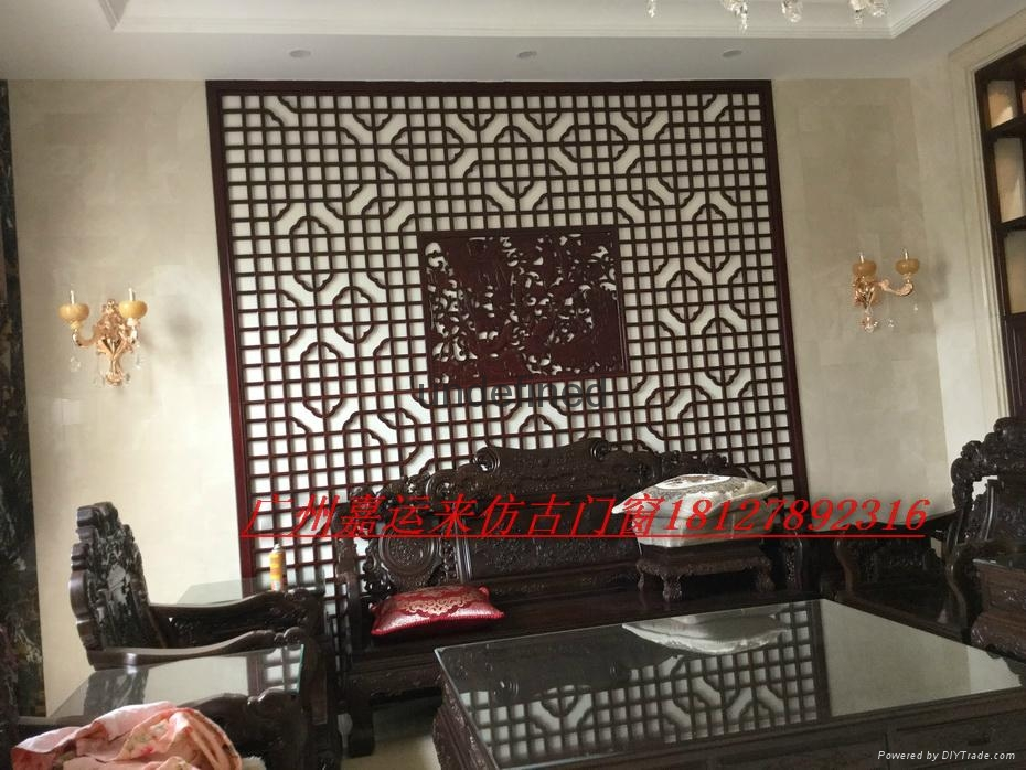 Hand made archaize process classical elegant woodcarving doors and Windows 4