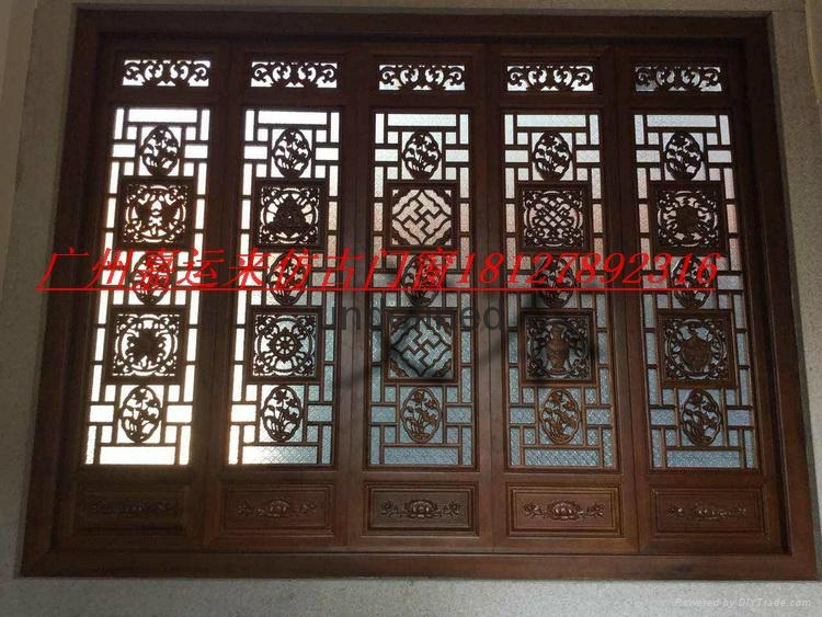 Chinese style antique carved wooden antique doors and Windows 3