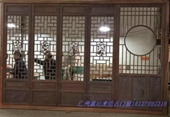 Guangzhou imported mahogany relief calligraphy machine carved antique plaque