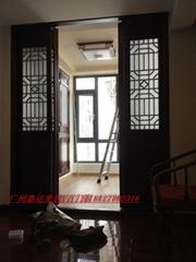 实木中式仿古屏风门