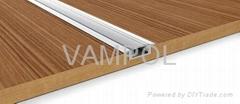 MOQ 10meters free shipping aluminum led recessed 8mm led strip light profile