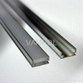 MOQ 10meters Free shipping anodized aluminum recessed 8mm led strip profile