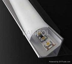 MOQ 10meters Free shipping aluminum led corner strip light profile