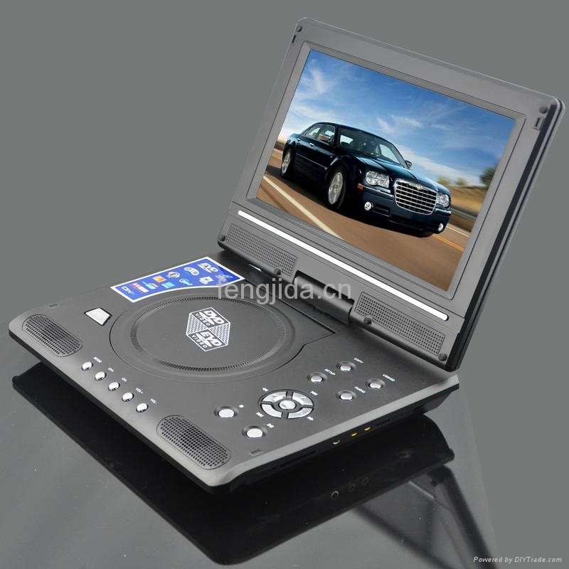 9 inch fashion design portable DVD Player with TV/FM 3