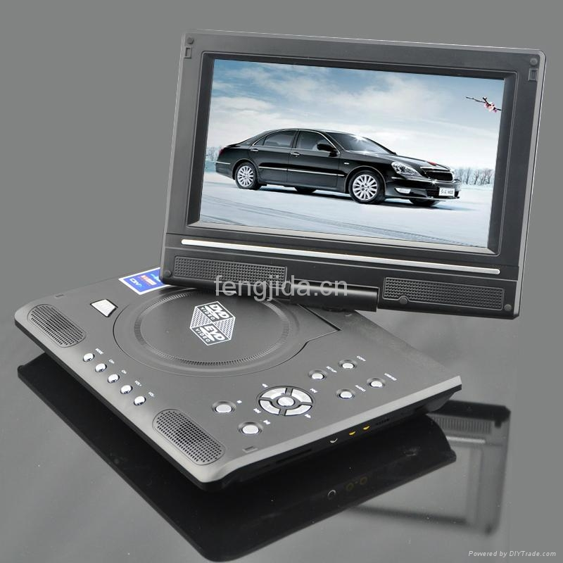 9 inch fashion design portable DVD Player with TV/FM 4