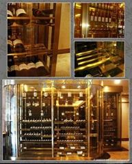 香檳金不鏽鋼紅酒櫃