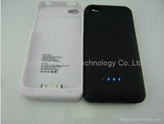 1900mAh Portable External Battery Backup Case Cover Power Bank For iPhone4, 4S