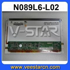 "8.9"" LCD Screen N089L6-L02 Glossy LED Panel"