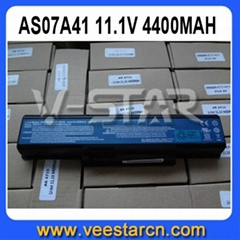 6 Cells 4400mAh Laptop Battery For Acer Aspire 4520 4530 4710G AS07A41