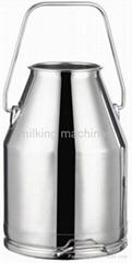 Brand SUS304 Milking Bucket 25liters Cow Milking Machine Milk Tank 1mm Thickness