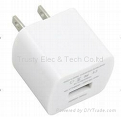 USB Wall Charger For iphone 3GS, 4, 4S and ipod