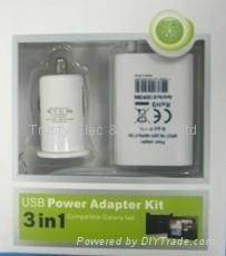 USB Travel/Home/Wall Charger 3 in 1 for iphone 3GS, 4, 4S and ipod