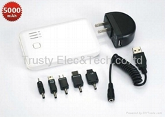 5000mAH mobile power for Iphone/Ipad/Blackberry/HTC/Nokia