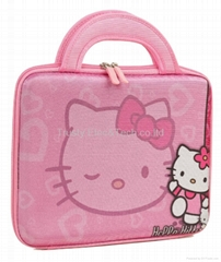 "Hello Kitty Themed Apple iPad / 10""-11"" Hard Tablet Bag with Velcro Locking Hand"