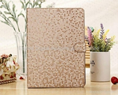Bling Sparkling Design Luxury Leather Case Stand Flip Cover for iPad Air