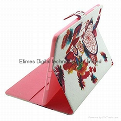 iPad Air 2/iPad 6 Cute Case PU Leather Wallet Flip Protection Case with Stand