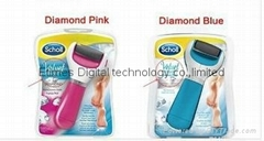 2015new Scholl Diamond Pink&Blue Feet Care Pedicure/Electric Foot File