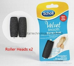 2015 New Scholl Electric foot files Replacement Roller Heads packed with 2pcs
