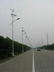 Wind and solar hybrid street lights
