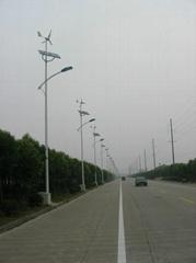 Wind and solar hybrid street lights