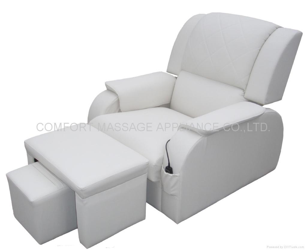高級豪華皮革足浴沙發