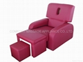 Elegant electric foot massage sofa with face hole