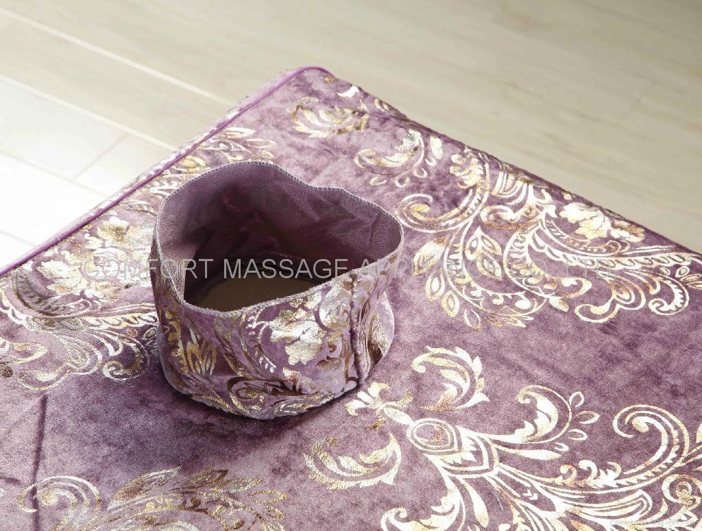 紫色NO.016加厚高檔按摩床、美容床床罩 2