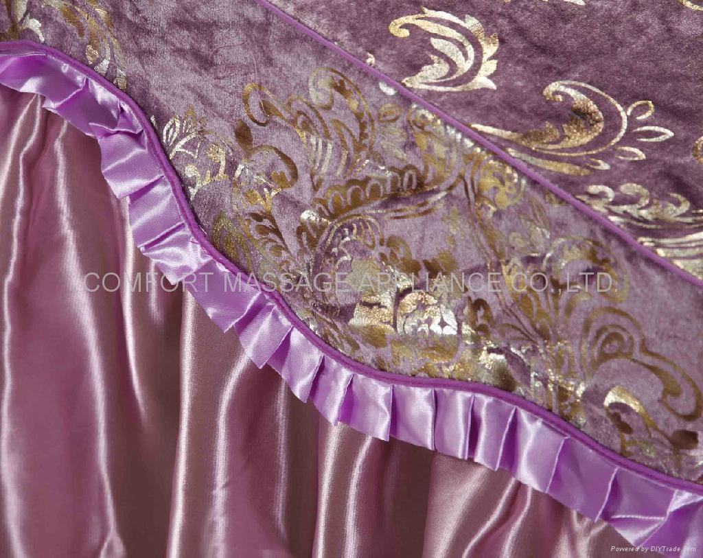 紫色NO.016加厚高檔按摩床、美容床床罩 3
